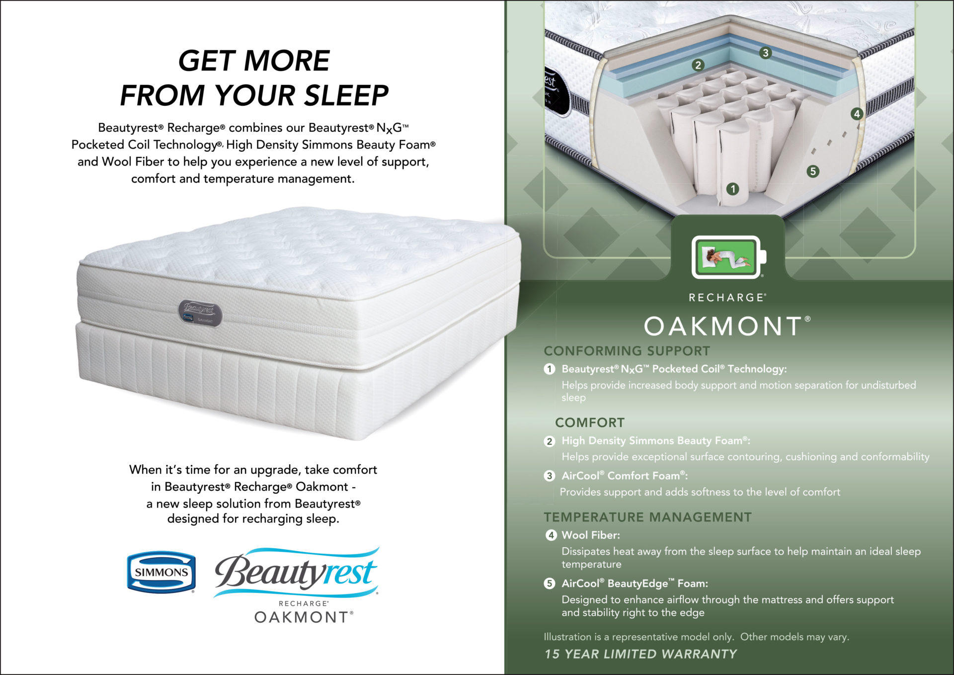 Simmons | Oakmont Bed Set