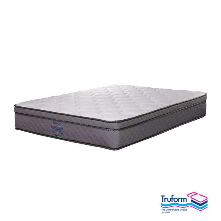 TruForm | Burgandy Non Turn Mattress – King, The Bed Centre