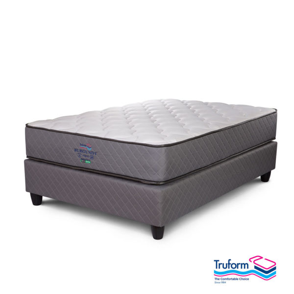 Truform   Burgandy Non Turn Bed Set – King, The Bed Centre
