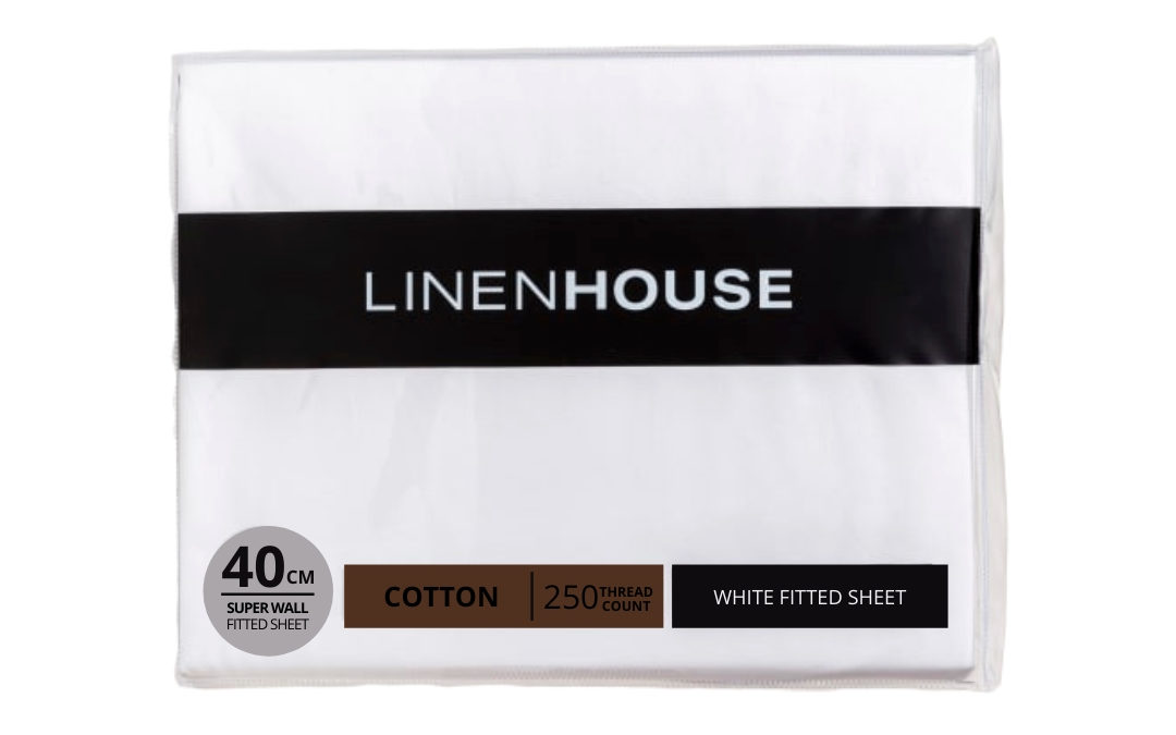 Linen House - White Fitted Sheet