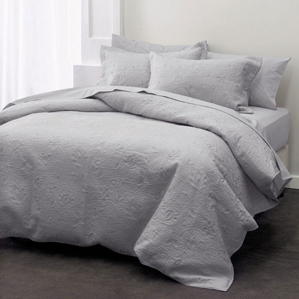 Chantel Grey Coverlet, The Bed Centre