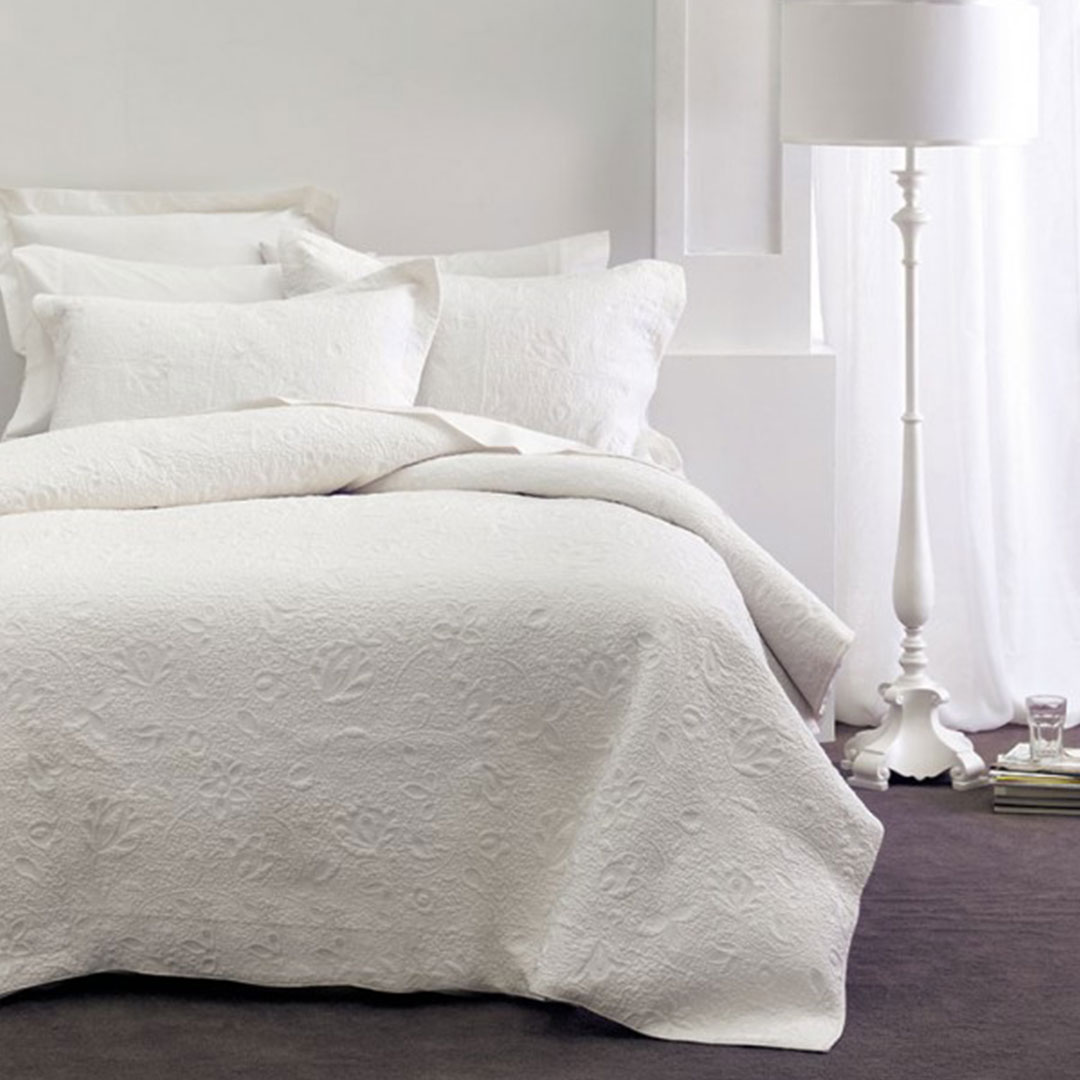 Chantel White Coverlet The Bed Centre