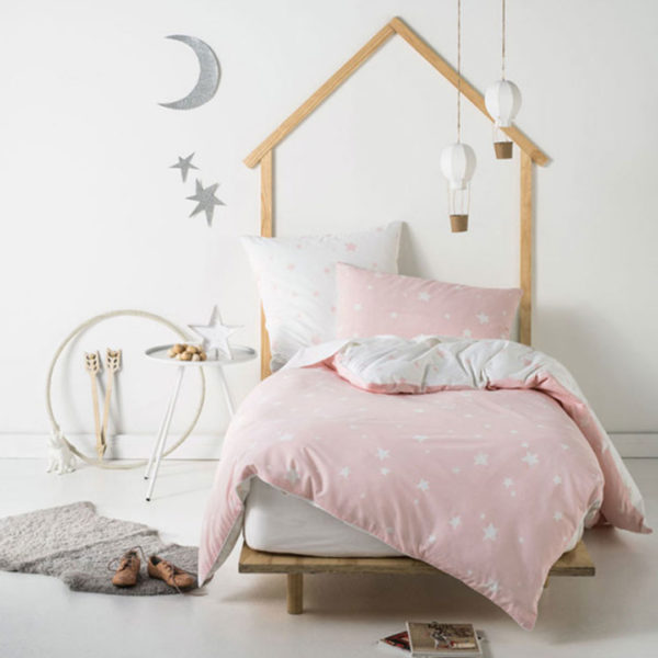 Stargazer Pink Duvet Cover Set, The Bed Centre
