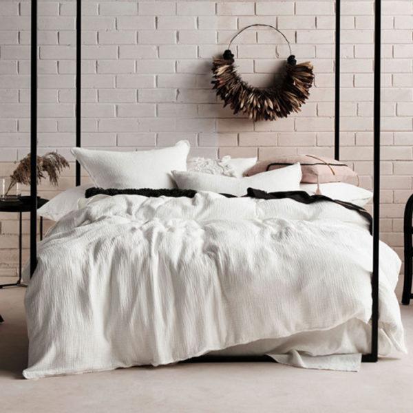 Elysian White Duvet Cover Set, The Bed Centre