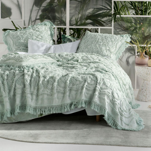 Somers Mint Bed Cover, The Bed Centre