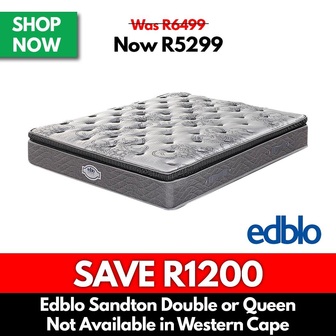 Edblo Sandton Pillow Top   Double or Queen - Beds for Sale Online Specials
