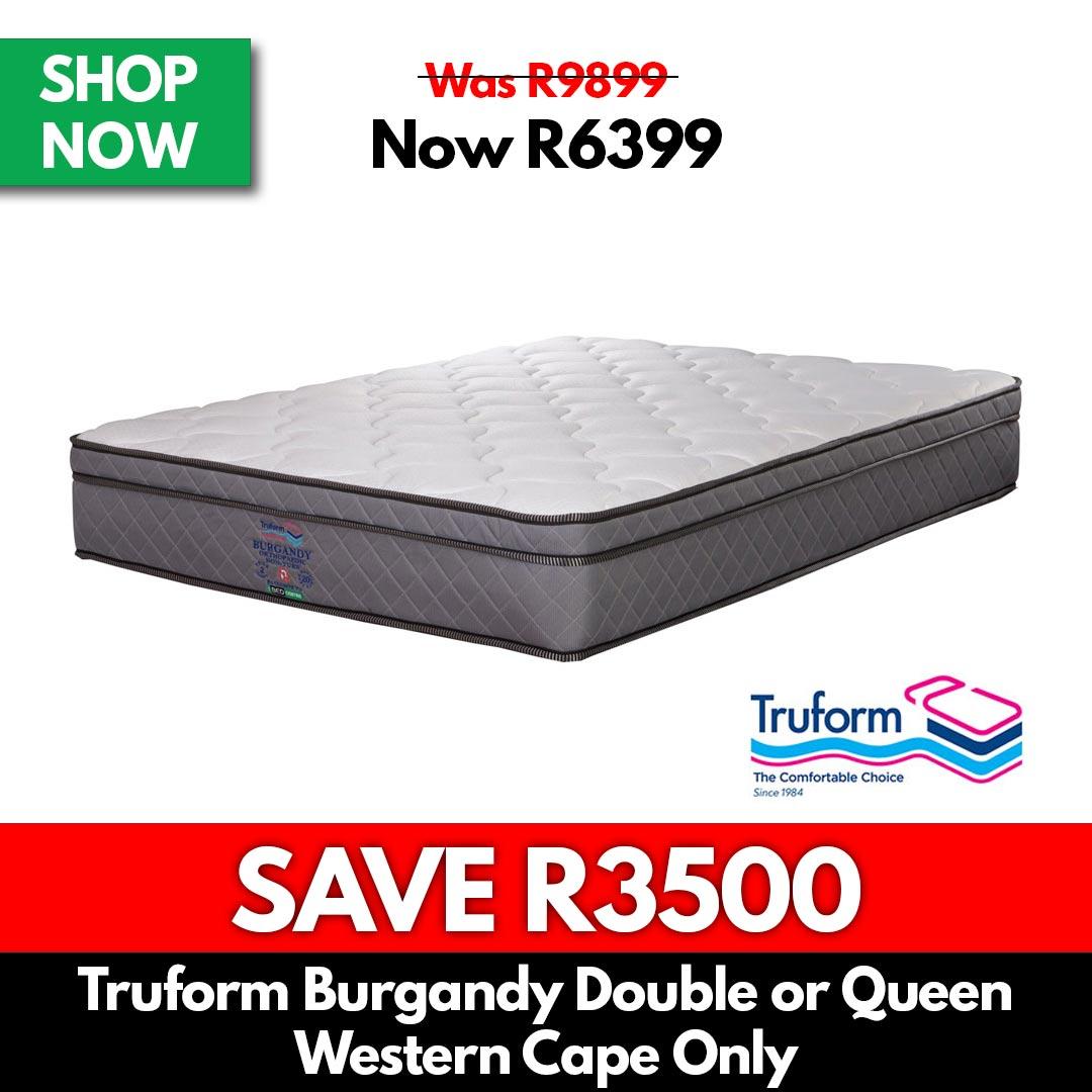 Truform Merlot   Double or Queen Bed Set - Beds for Sale Online Specials