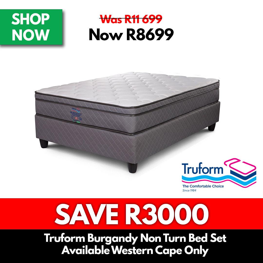 Truform Burgandy | Non Turn Bed Set - Beds for Sale Online Specials