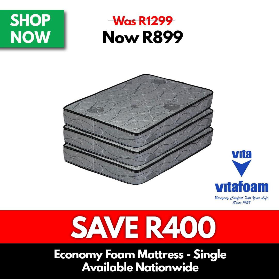 Vitafoam | Economy Foam Single Mattress - Mattress for Sale Online Specials
