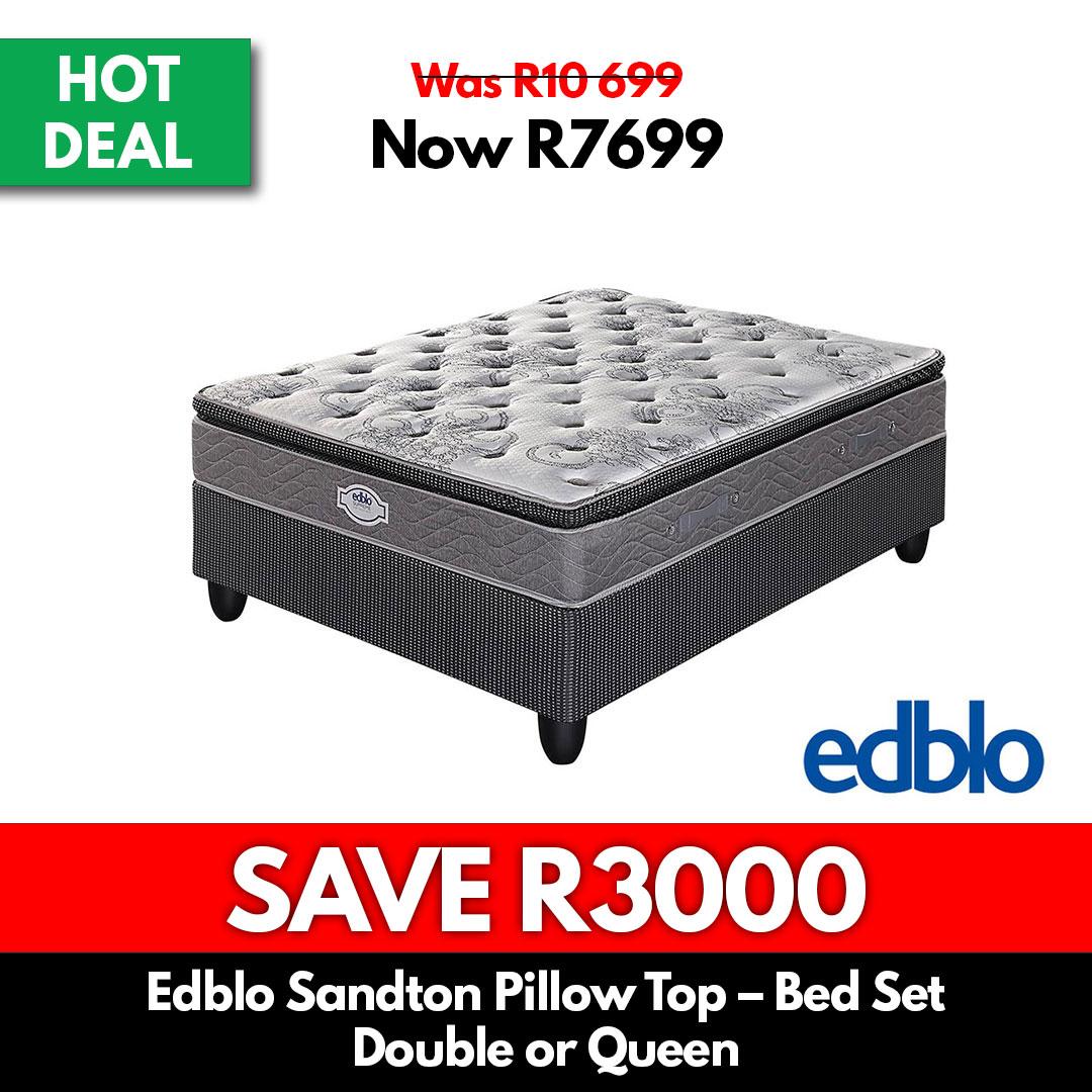 Edblo Sandton Pillow Top - Bed Set | Double or Queen - Beds for Sale Online Specials