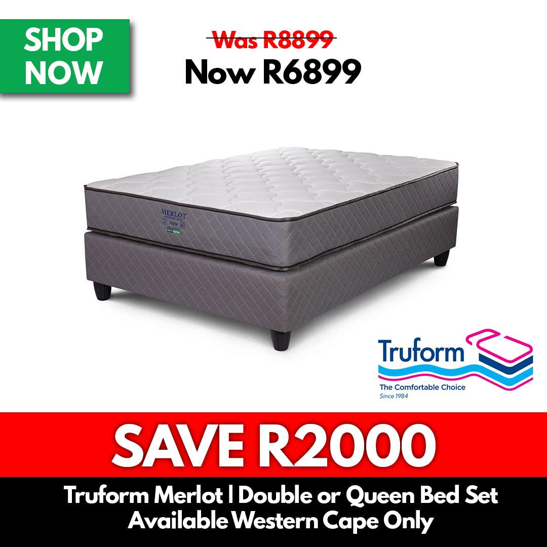 Truform Merlot | Double or Queen Bed Set - Beds for Sale Online Specials