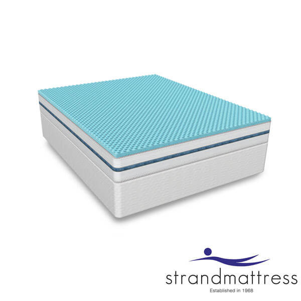 Strandmattress Blue Gel Memory Foam Topper